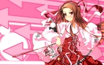 Konachan.com - 123973 bow bow_(weapon) brown_hair chu idolmaster japanese_clothes long_hair minase_iori red_eyes weapon