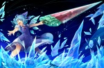 Konachan.com - 149636 blue_hair cirno kokka_han short_hair sword touhou weapon