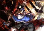 Konachan.com - 126187 2girls alice_(wonderland) alice_in_wonderland h2so4kancel knife weapon