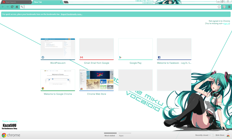 Google themes hatsune miku - Miku_chrome2 Skin Name Hatsune Miku 8