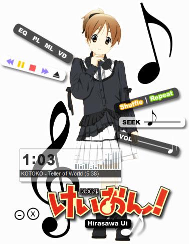 K-ON! - Hirasawa Ui Winamp Skin