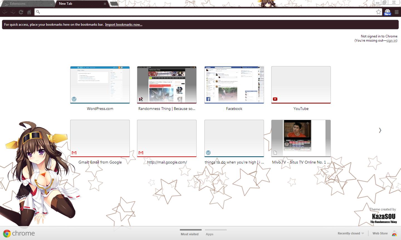 Google Chrome Theme: Kongou | Randomness Thing