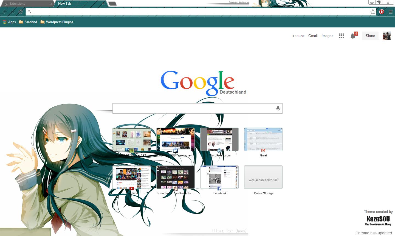 Gmail theme anime - Sayaka_chrome