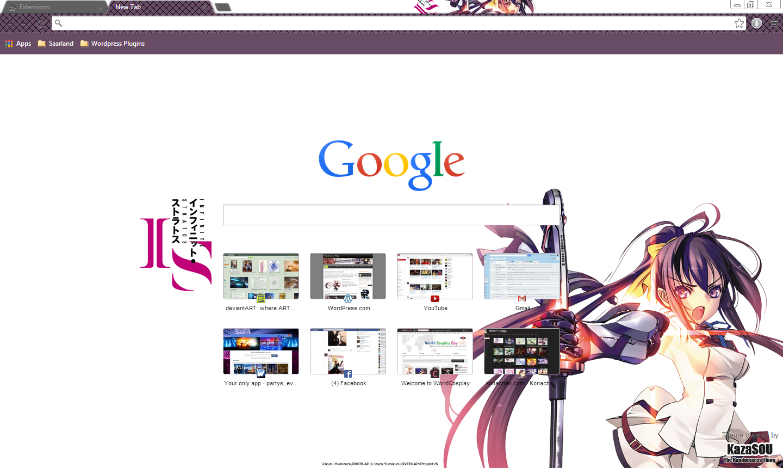 Google chrome theme infinite stratos -  Infinite Stratos Character Google Chrome Theme So Keep Anticipating Shinonono_chrome