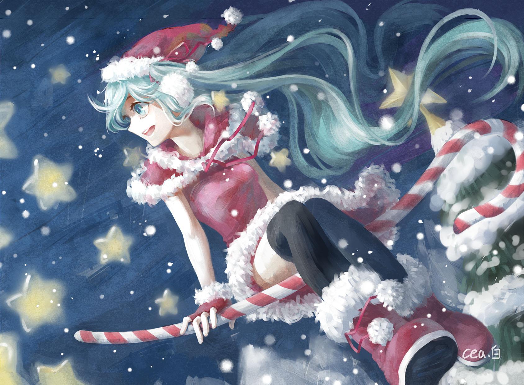 hatsune miku christmas wallpaper - photo #2
