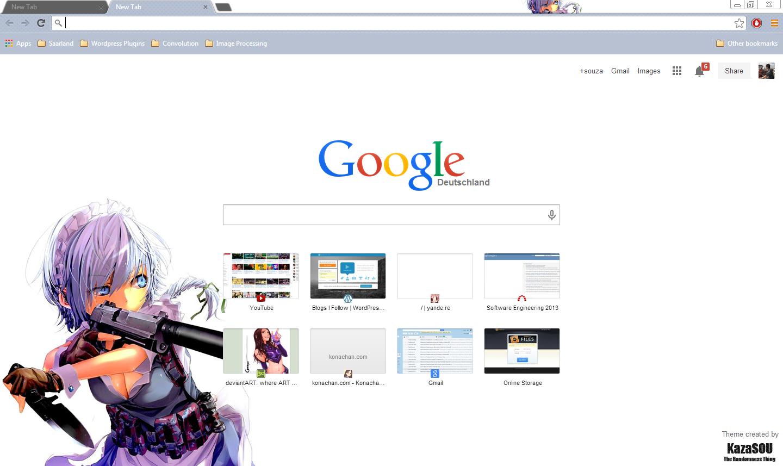 Google chrome themes zombie - Sakuya_chrome