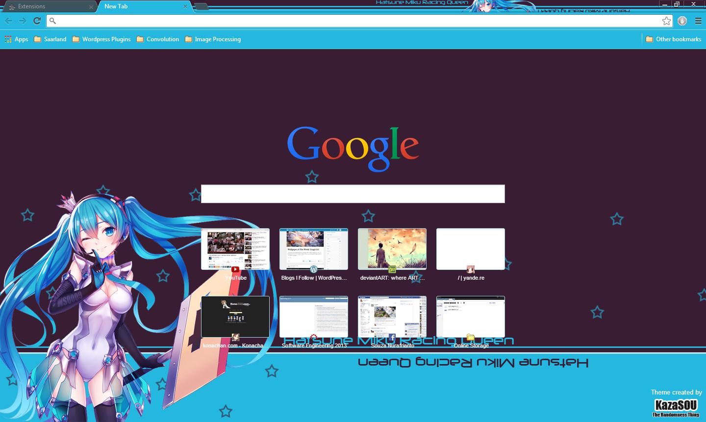 Google themes hatsune miku - Miku_chrome3 Skin Name Hatsune Miku 10