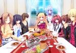 Konachan.com - 117087 braids cake drink food game_cg hayami_mai headband kotoharu_kanon lunaris_filia maid melis minase_yukari ribbons uesugi_tatsumi whirlpool