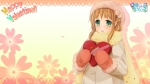 Konachan.com - 127560 blush brown_hair gloves scarf tagme valentine
