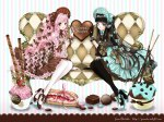 Konachan.com - 154697 chocolate dress food long_hair shiitake_(gensoudou) tagme valentine