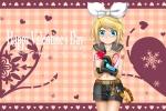 Konachan.com - 158216 blush heart kagamine_rin kuromayu valentine vocaloid
