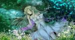 Konachan.com - 171274 dress flowers hatsune_miku mariwai_(marireroy) rain twintails vocaloid