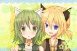 Konachan.com - 172186 catboy catgirl gumi kagamine_len vocaloid watermark