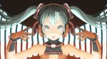 Konachan.com - 173375 aqua_eyes aqua_hair close gloves hatsune_miku headphones jpeg_artifacts long_hair throtem twintails vocaloid