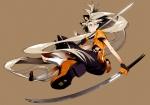 Konachan.com - 174266 blonde_hair blue_eyes katana kimdazzi kneehighs long_hair seeu skirt sword vocaloid weapon