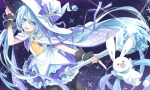 Konachan.com - 174891 bunny hat hatsune_miku transistor vocaloid wand witch_hat yuki_miku