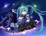 Konachan.com - 175150 green_eyes green_hair hat hatsune_miku long_hair stars thighhighs train twintails vocaloid yami_(m31)