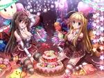 Konachan.com - 177700 2girls cake chocolat_(noukome) cleavage miazi ore_no_nounai_sentakushi_ga_gakuen_love-comedy_wo_zenryoku_de_jama_shiteru thighhighs yuuouji_ou