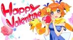 Konachan.com - 177997 fang plim school_swimsuit swimsuit twinkle twintails valentine watanabe_akio