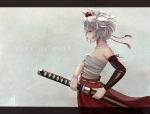 Konachan.com - 165349 animal_ears inubashiri_momiji katana sashimi_(adam026) short_hair sword touhou weapon white_hair