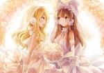Konachan.com - 167386 2girls hakurei_reimu kirisame_marisa sumi_mi touhou wedding_dress