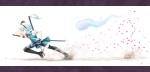 Konachan.com - 170100 bow gotou_hisashi green_eyes headband katana konpaku_youmu petals short_hair skirt sword thighhighs touhou weapon white_hair