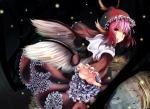 Konachan.com - 172256 animal_ears dress hat hinauri_(nurupon) mystia_lorelei pink_hair short_hair snow touhou wings