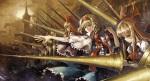 Konachan.com - 172521 alice_margatroid blonde_hair shanghai_doll spear touhou tsurukame weapon