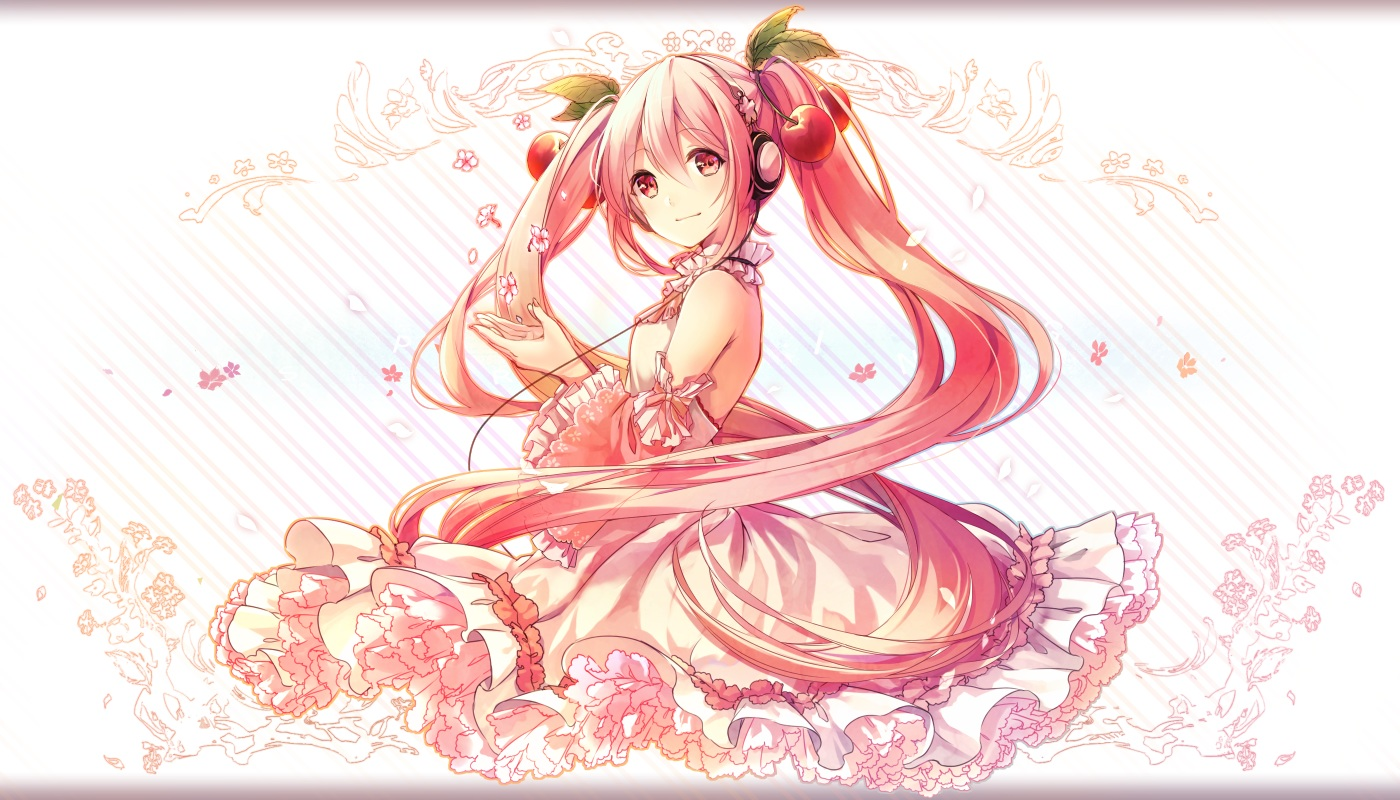 The adorable Hatsune Miku from Vocaloid is available in her Sakura