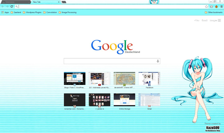 Gmail hatsune miku theme - Miku_chrome4