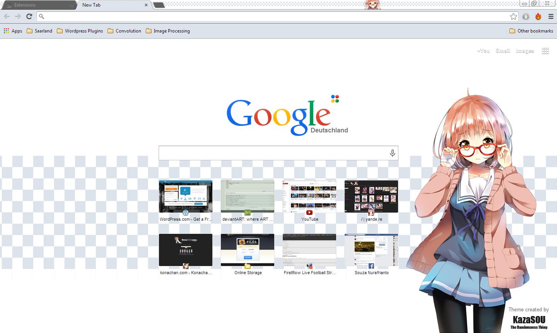 Google chrome themes and skins - Mirai_chrome2