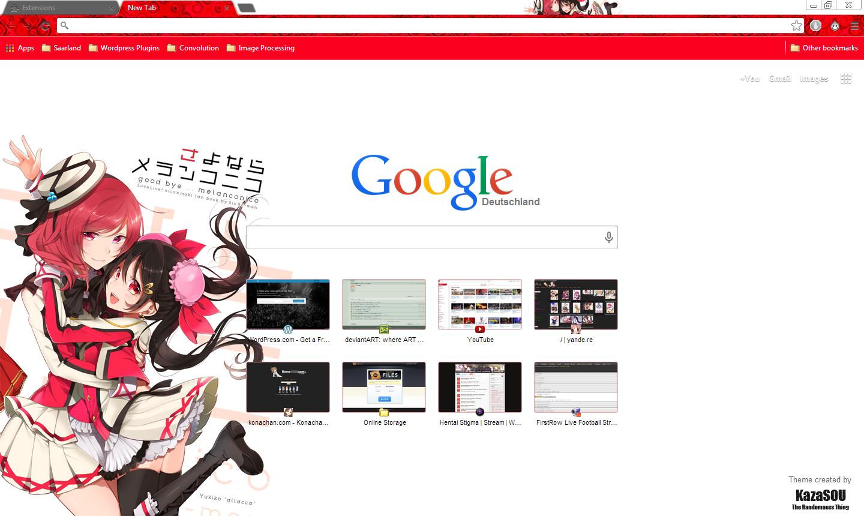 Google themes live - Nishikino_maki_yazawa_nico_chrome