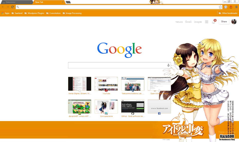 Google chrome themes yellow - Idol_incidents_chrome