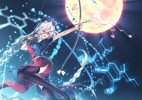 Konachan.com - 186196 bow_(weapon) orita_enpitsu touhou weapon yagokoro_eirin