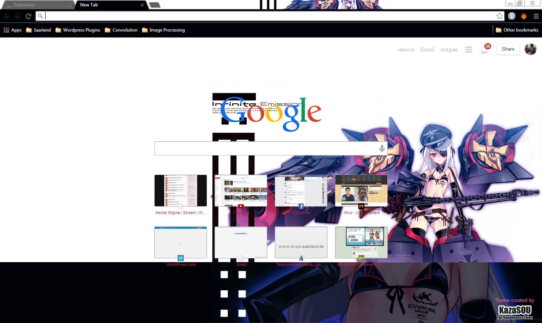 Google chrome theme infinite stratos - Laura_chrome2