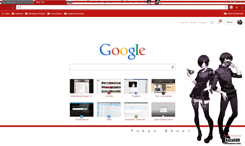 Google chrome themes tokyo ghoul - Touka_ken_chrome