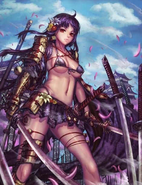 yande.re 295644 bikini_armor edenfox sengoku_taisen sword