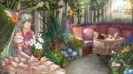 Konachan.com - 180800 blue_eyes book ciyuan dress flowers green_hair hatsune_miku tree vocaloid