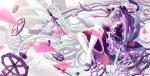 Konachan.com - 184116 aqua_eyes aqua_hair boots bow cross dress hatsune_miku headphones lolita_fashion long_hair maple_(maplehy) ribbons thighhighs twintails vocaloid