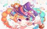 Konachan.com - 184563 candy chibi close hat hatsune_miku jpeg_artifacts lollipop nou twintails vocaloid