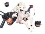Konachan.com - 187589 a_arrow_z gloves kantai_collection loli northern_ocean_hime red_eyes underwear white white_hair