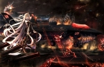 Konachan.com - 188214 aircraft aircraft_carrier_oni armored_aircraft_carrier_hime boyogo gray_hair kantai_collection long_hair red_eyes