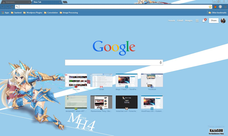 Google themes blue - Monster_hunter_girl_chrome