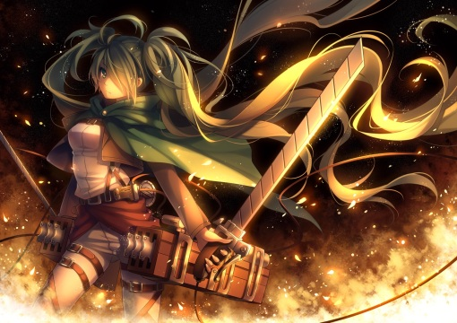 yande.re 299013 hatsune_miku parody shingeki_no_kyojin sword tid vocaloid weapon