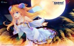 Konachan.com - 147127 aizawa_hikaru blonde_hair blue_eyes dress halloween jpeg_artifacts long_hair microsoft shinia