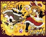 Konachan.com - 147315 bow candy dress hakurei_reimu halloween ichizen_(o_tori) kirisame_marisa kurodani_yamame tagme touhou