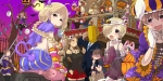 Konachan.com - 147482 chiyomi futaba_anzu halloween idolmaster kiba_manami kitami_yuzu moon namba_emi sakuma_mayu seki_hiromi tagme tail ueda_suzuho umeki_otoha yaguc