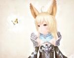 Konachan.com - 155729 animal_ears armor blonde_hair brown_eyes butterfly elin hono_mochizuki tera_online