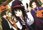Konachan.com - 156980 chitanda_eru fukube_satoshi halloween hyouka ibara_mayaka nishiya_futoshi oreki_houtarou scan