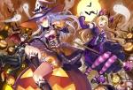 Konachan.com - 171234 fang halloween hat matsui_hiroaki original pumpkin witch witch_hat